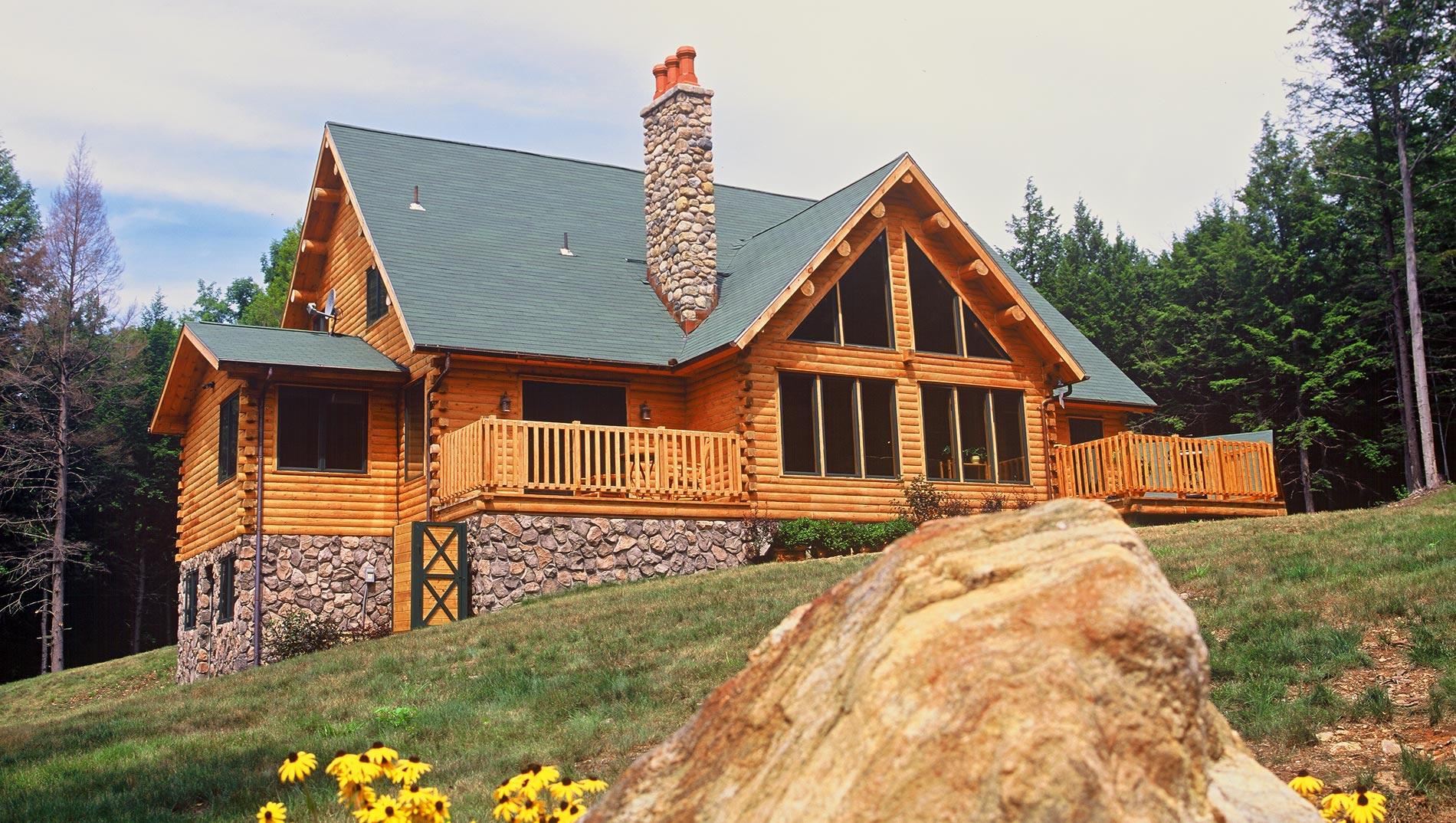 Custom Log Homes Hybrid  Timber Homes  Ward Cedar Log Homes