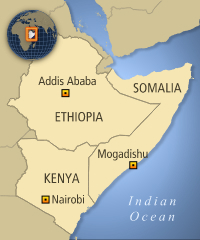 Image result for somalia, kenya, map