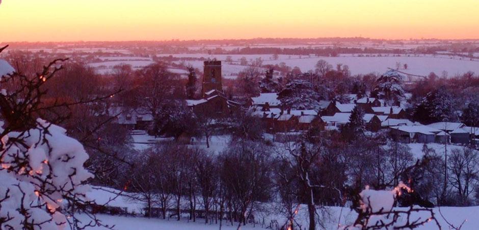 Wardington winter sunset