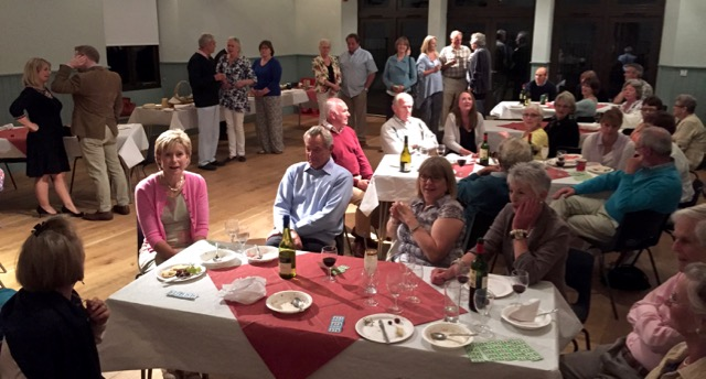 Puddings and drinks back at the Memorial Hall