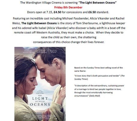 "Time to book your tickets for ""The Light Between Oceans"""