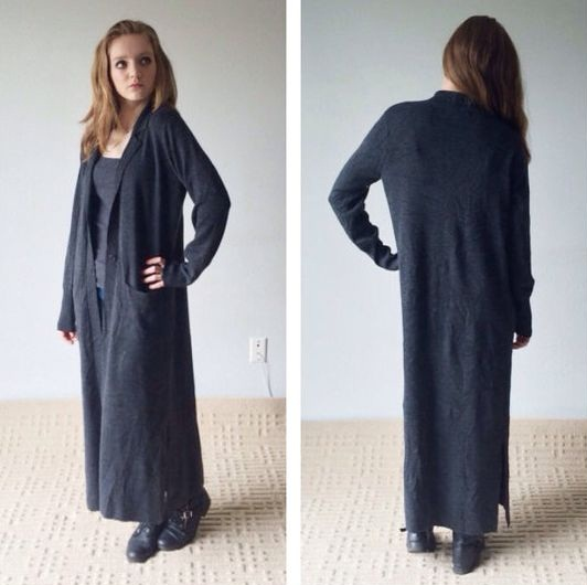 Floor Length Cardigan  Wardrobe Mag