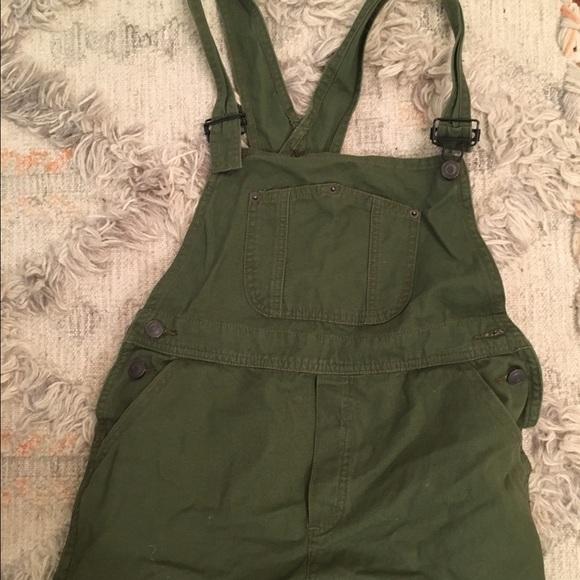 Green Overall Shorts  WardrobeMagcom