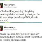 Advice, Insomina, and Rachael Ray