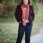 What I Wore: Oxblood and Indigo