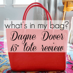 What's In My Bag: 15″ Dagne Dover Tote