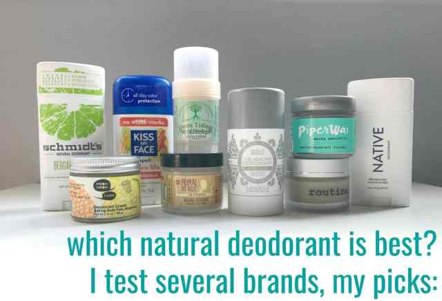 best picks for natural deodorant - reviews of creams and sticks by Wardrobe Oxygen