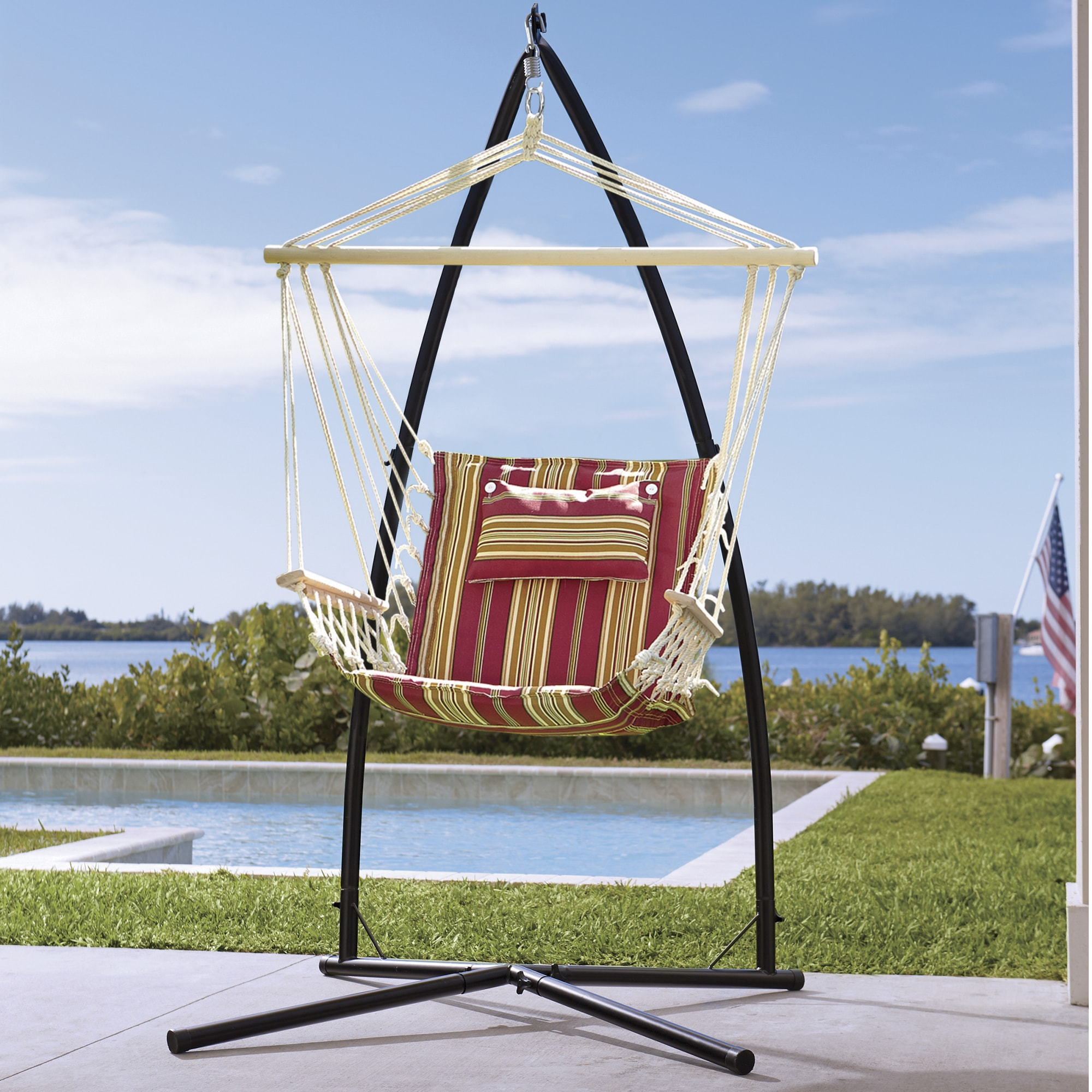 hanging chair stand ergon 3 by herman miller montgomery ward large
