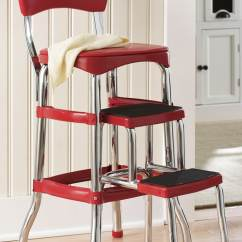 Chair Stools Height Sleeping In A Counter Retro Step Stool Montgomery Ward