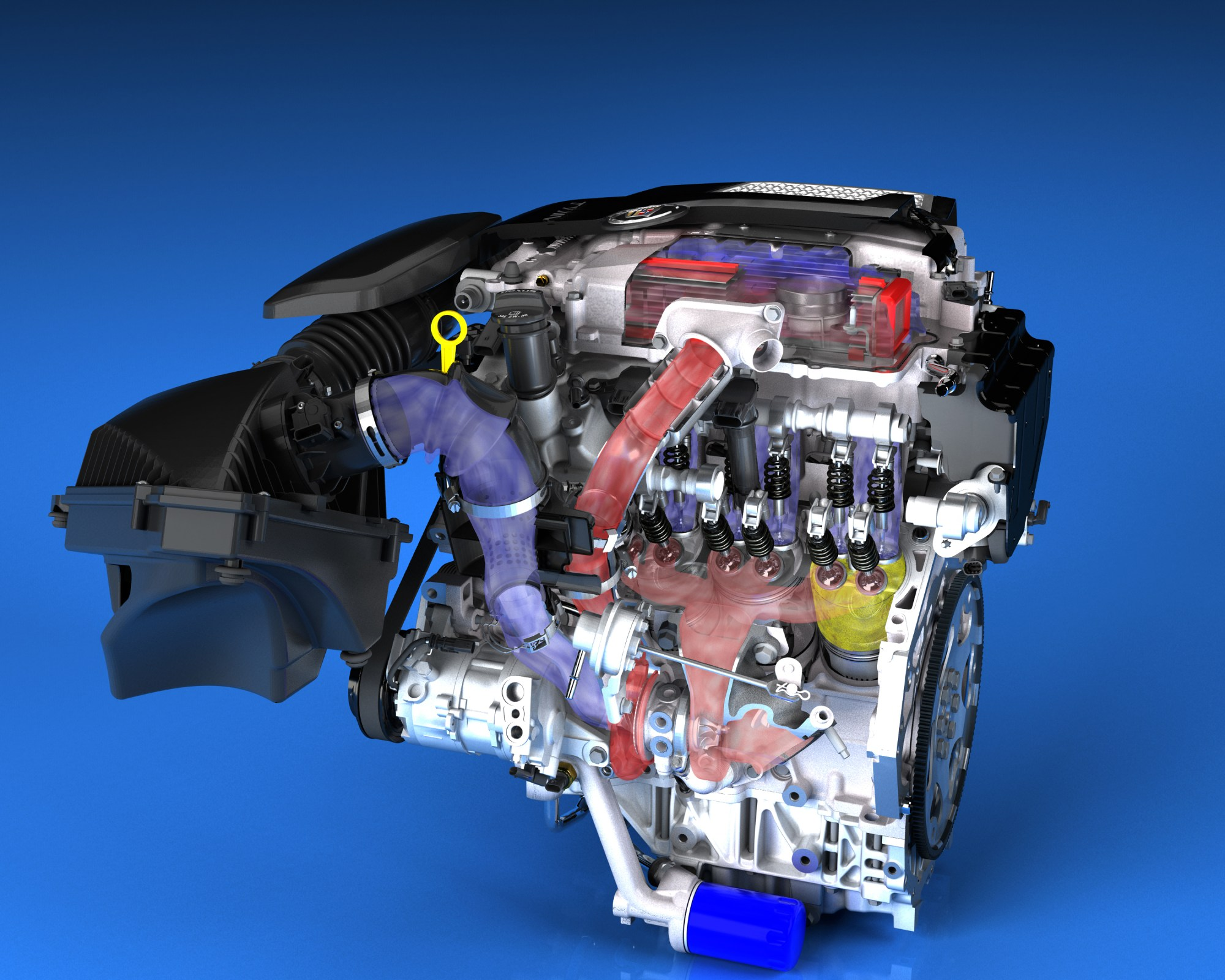 hight resolution of engine turbo diagram