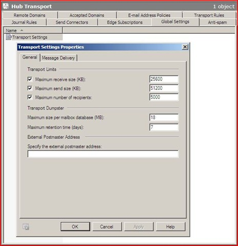 Exchange 2010 Global Settings | Ward Vissers