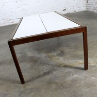 Knoll Walnut and White Laminate Lewis Butler Coffee Table ...