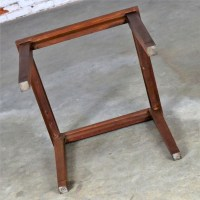 Mid Century Modern Walnut and Black Marble Square End or ...