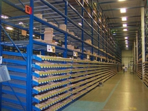 Carton Flow Bed Sections In Selective Rack