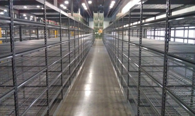 Rivet Shelving with Wire Mesh Decking