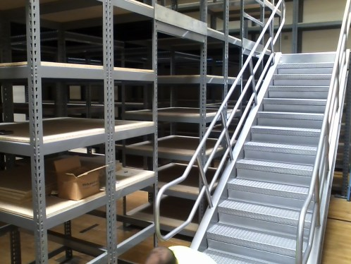 Shelving Supported Mezzanine