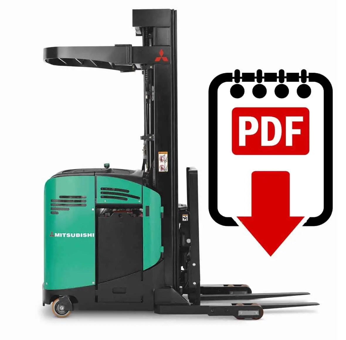 hight resolution of mitsubishi edr24 forklift service manual download pdf