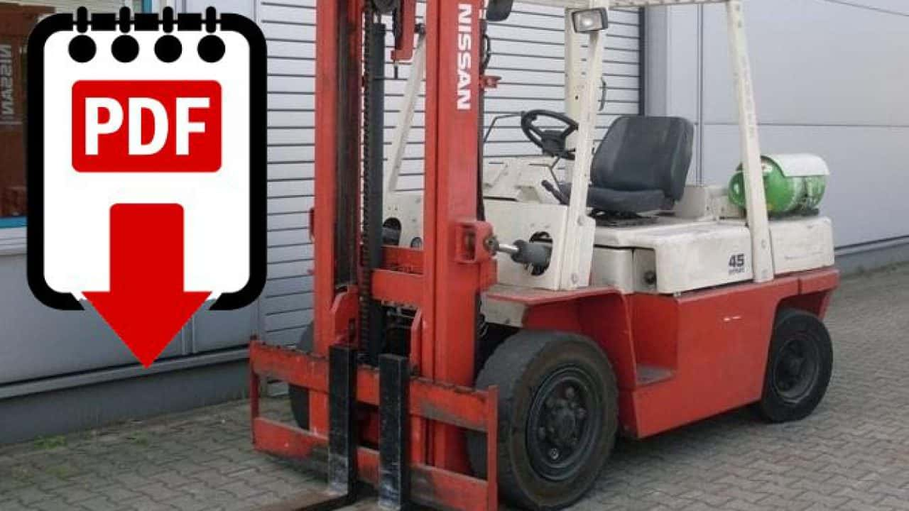 hight resolution of nissan f03 forklift service manual download pdf