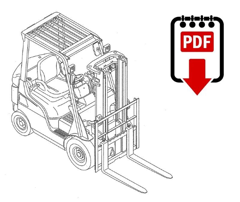 Mitsubishi FB20KT (EFB5A) Forklift Repair Manual