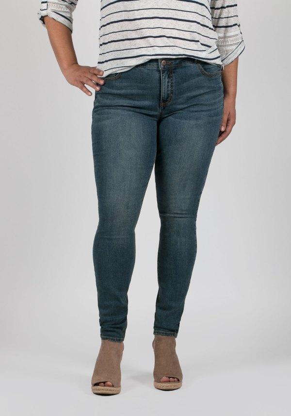 Ladies' Size Skinny Jeans