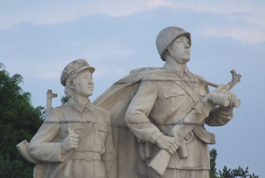 North Korea - Sculptures at Juche Tower, Pyongyang - by Nicor 2012