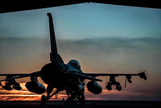 USAF F-16 Fighting Falcon, 134th Expeditionary Fighter Squadron, Op Inherent Resolve, on 4 Feb 2017, by Mst Sgt Benjamin Wilson
