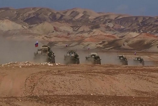 Russian Military Convoy in Tajikistan March 2017 as part of Joint Counter-Terrorism Exercise (MOD Russian Federation, CC4)