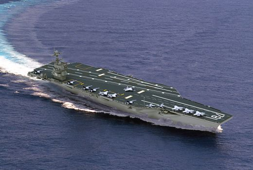 US Navy USS Gerald R Ford (CVN-78), artistic concept, US Navy graphic