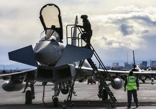 Typhoons from 6 Squadron take part in Red Flag