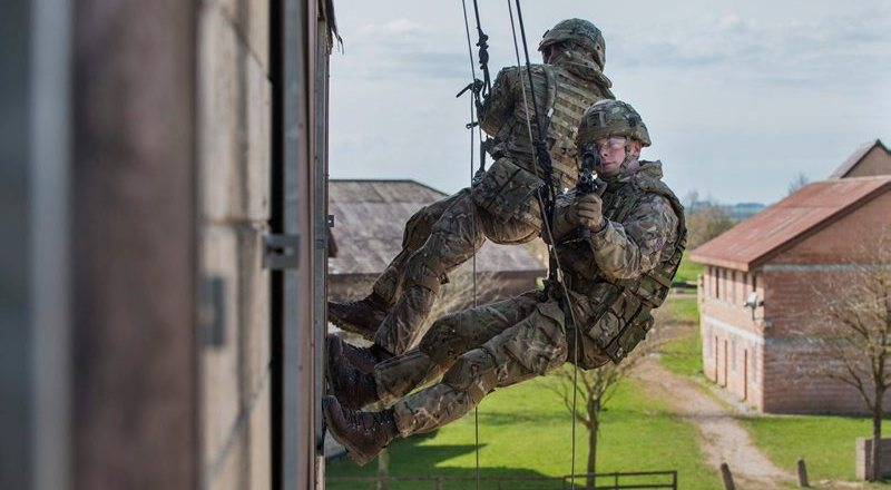 British Army AWE17 Royal Marines test DMM Urban Vertical Access by Cpl Daniel Wiepen (MOD Crown 2017 Limited Re-use) APOSW-2017-022-AWE 2017-030 [800px]