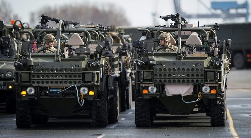 British Army, Light Dragoons, Jackal 2, arriving in Emden, Germany, for deployment in Poland, Enhanced Forward Presence, by Dominic King (Crown Copyright, 2017)
