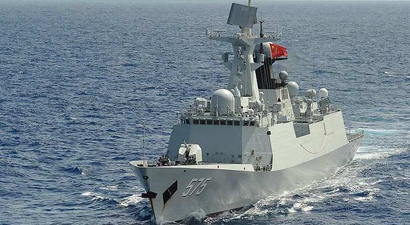 China, People's Liberation Army (Navy) frigate PLA(N) Yueyang (FF 575), by Shannon Renfroe 25 July 2014 (US Navy) [800px]2