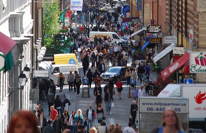Sweden, Stockholm Islamic Terrorism Attack, Drottninggatan pedestrian shopping street by I99pema 2009 CC3 [685px]