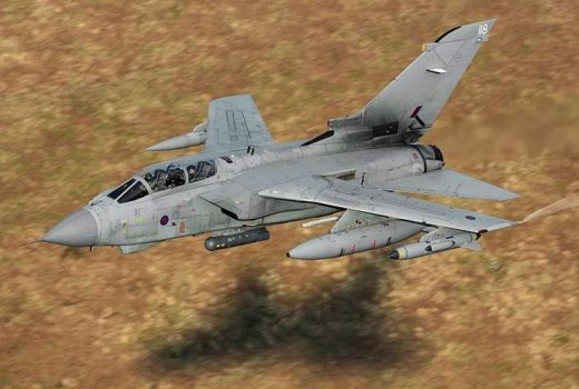RAF Tornado, RAF Marham, low level flying over Wales, by SAC Tim Laurence (Crown Copyright, 2015)