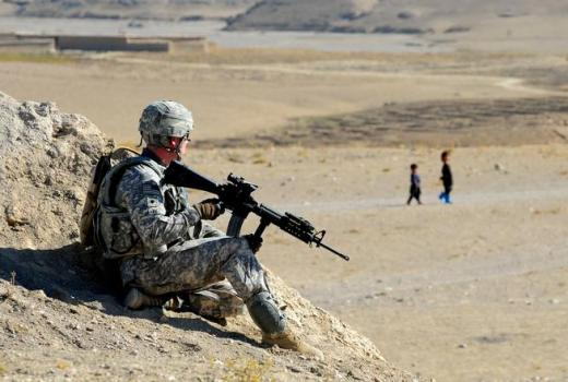 US Army Provincial Reconstruction Team Zabul, Specialist Timothy Leary near Qalat, Zabul Prov, Afghanistan 1 Nov 2010 by Staff Sgt Brian Ferguson