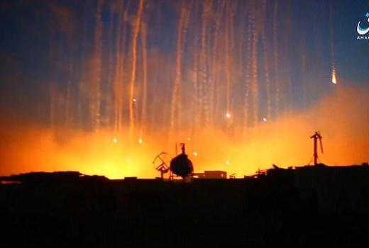 Syria, white phosphorus bomb over Raqqa