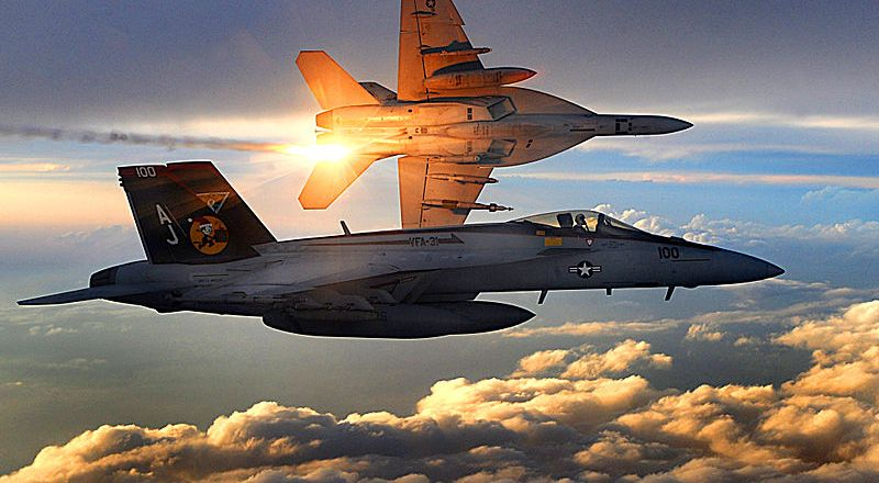 US Navy FA-18 Super Hornet, Strike Fighter Squadron 31, by Aaron Allmon (USAF, 2008)