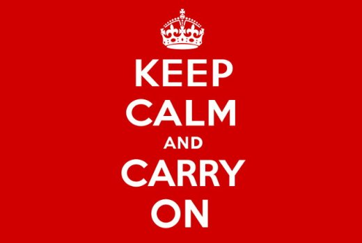 British Ministry of Information WWII, Keep Calm and Carry On, Poster 1939