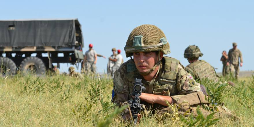 British Army Parachute Regiment, 2nd Battalion, C Coy, Exercise Noble Partner, Georgia, 7 August 2017 (US Army, 2017)