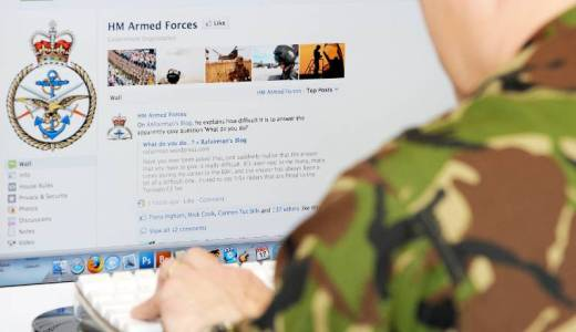 Social Media and the military, MOD, HM Armed Forces Facebook account (Crown Copyright, 2011)