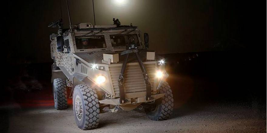 British Army Foxhound as used by 3 SCOTS, The Black Watch (Crown Copyright, 2012)