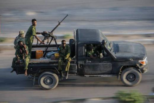 Somali National Army (SNA) in Mogadishu, Somalia, currently fighting Al-Shabaab (AMISOM, 2012)