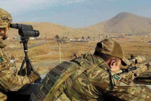 British Army 2 YORKS sniper team, Kabul, Afghanistan (Crown Copyright, 2017)