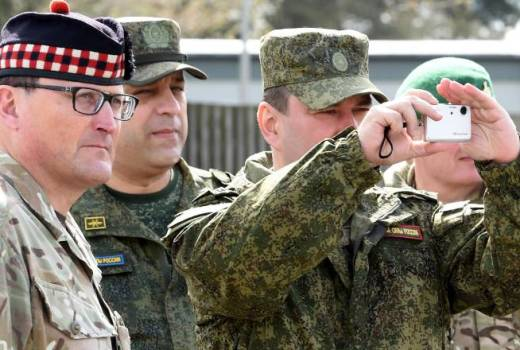 British Army 51st Infantry Brigade and Headquarters Scotland host Russian military, Vienna Document, during Ex Joint Warrior 18 (Crown Copyright, 2018)