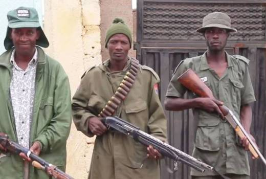 Islamic State in West Africa, Civilain Joint Task Force (CJTF) fighters in Michika organised against Boko HIslamic State in West Africa, Civilian Joint Task Force (CJTF) fighters in Michika organised against Boko Haram (VOA, 2016)aram (VOA, 2016)