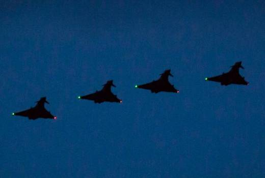 RAF II(AC) Squadron, 135 Expeditionary Air Wing, Typhoons return to Romania on Op BILOXI (Crown Copyright, 2018)[