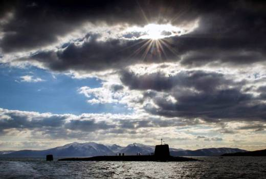 Royal Navy HMS Victorious, Vanguard-class nuclear submarine (Crown Copyright, 2013)