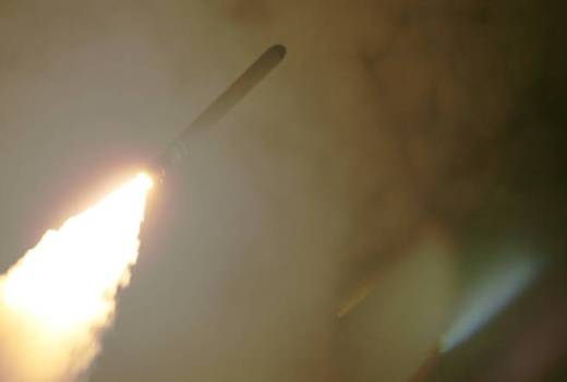 US Navy USS Monterey Tomahawk Strike on Syrian Chemical Weapons Facility