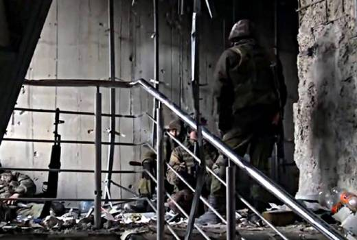Ukraine, War in Donbas, 2nd Battle for Donetsk Airport, 16 January 2015 (Video Still, 2015)