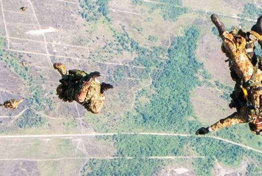 Paratroopers jump on Swift Response 18 Exercise over Lithuania